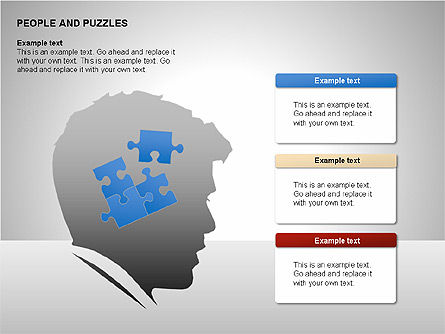 People and Puzzles Diagrams, Slide 8, 00216, Puzzle Diagrams — PoweredTemplate.com