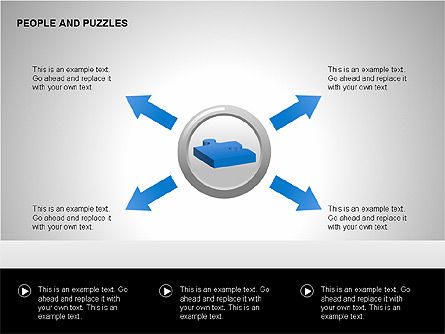 People and Puzzles Diagrams, Slide 9, 00216, Puzzle Diagrams — PoweredTemplate.com