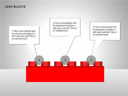 Lego Blocks Diagrams, 00217, Text Boxes — PoweredTemplate.com