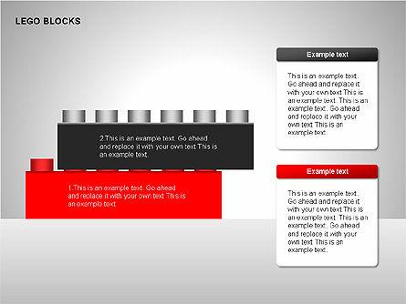 Lego Blocks Diagrams, Slide 2, 00217, Text Boxes — PoweredTemplate.com