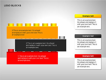 Lego Blocks Diagrams, Slide 3, 00217, Text Boxes — PoweredTemplate.com