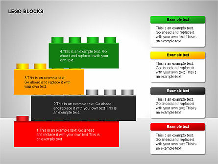 Lego Blocks Diagrams, Slide 4, 00217, Text Boxes — PoweredTemplate.com