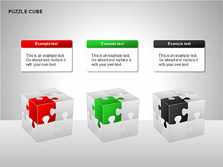 Puzzle Diagrams: 퍼즐 큐브 다이어그램 #00218