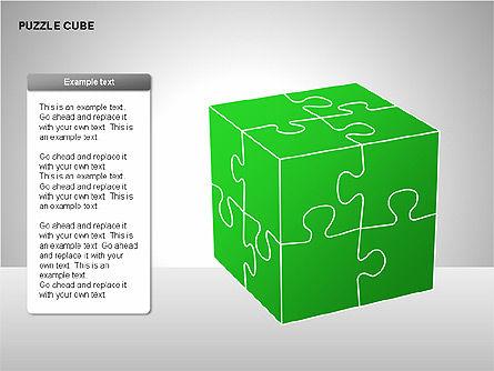Puzzle Cube Diagrams, Slide 10, 00218, Puzzle Diagrams — PoweredTemplate.com