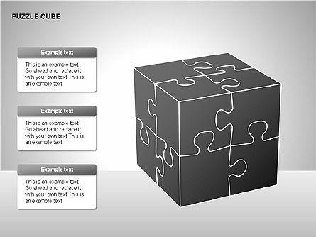 Puzzle Cube Diagrams, Slide 11, 00218, Puzzle Diagrams — PoweredTemplate.com