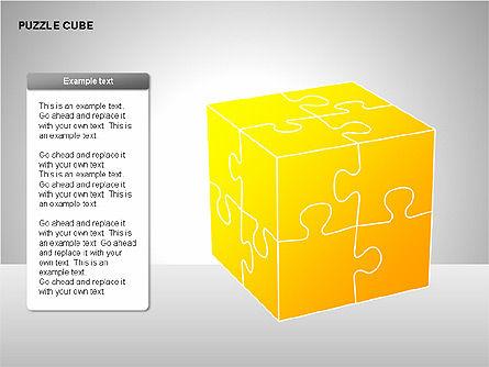 Puzzle Cube Diagrams, Slide 12, 00218, Puzzle Diagrams — PoweredTemplate.com