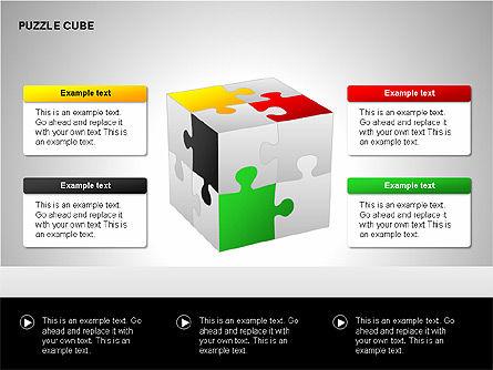 Puzzle Cube Diagrams, Slide 13, 00218, Puzzle Diagrams — PoweredTemplate.com