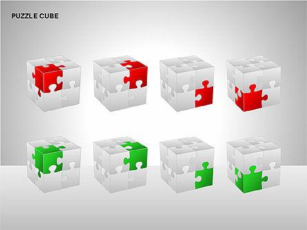Puzzle Cube Diagrams, Slide 14, 00218, Puzzle Diagrams — PoweredTemplate.com