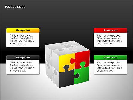 Puzzle Cube Diagrams, Slide 15, 00218, Puzzle Diagrams — PoweredTemplate.com