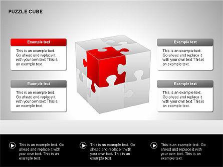 Puzzle Cube Diagrams, Slide 2, 00218, Puzzle Diagrams — PoweredTemplate.com