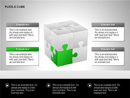 Puzzle Cube Diagrams, Slide 3, 00218, Puzzle Diagrams — PoweredTemplate.com