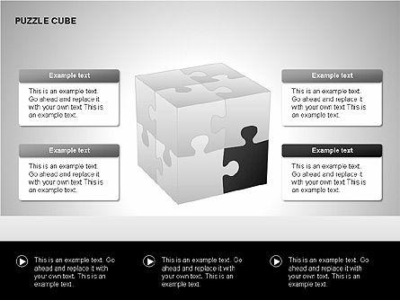 Puzzle Cube Diagrams, Slide 4, 00218, Puzzle Diagrams — PoweredTemplate.com