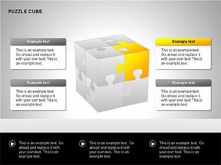 Puzzle Cube Diagrams, Slide 5, 00218, Puzzle Diagrams — PoweredTemplate.com