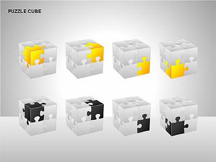 Puzzle Cube Diagrams, Slide 6, 00218, Puzzle Diagrams — PoweredTemplate.com