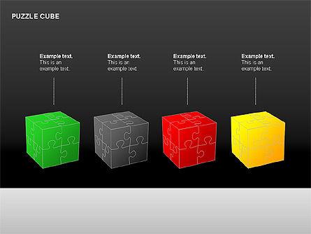 Puzzle Cube Diagrams, Slide 7, 00218, Puzzle Diagrams — PoweredTemplate.com