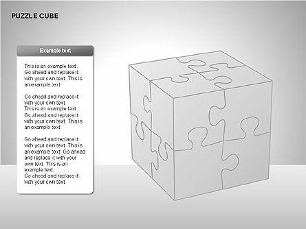 Puzzle Cube Diagrams, Slide 8, 00218, Puzzle Diagrams — PoweredTemplate.com