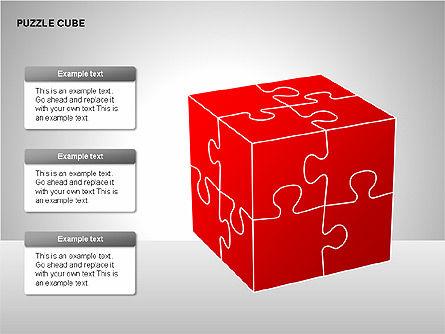 Puzzle Cube Diagrams, Slide 9, 00218, Puzzle Diagrams — PoweredTemplate.com