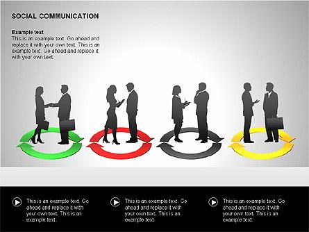 Communication Shapes, Slide 10, 00219, Shapes — PoweredTemplate.com