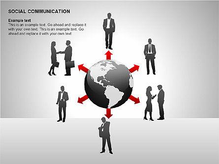 Communication Shapes, Slide 11, 00219, Shapes — PoweredTemplate.com