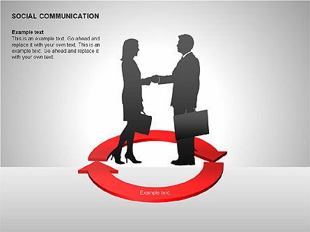 Communication Shapes, Slide 12, 00219, Shapes — PoweredTemplate.com