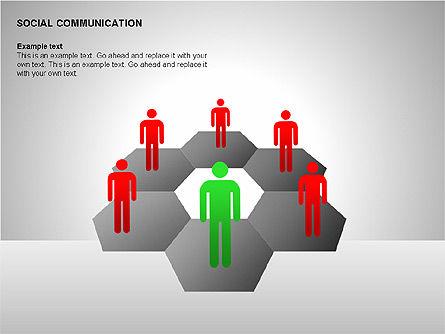 Communication Shapes, Slide 13, 00219, Shapes — PoweredTemplate.com