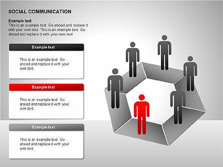 Communication Shapes, Slide 15, 00219, Shapes — PoweredTemplate.com