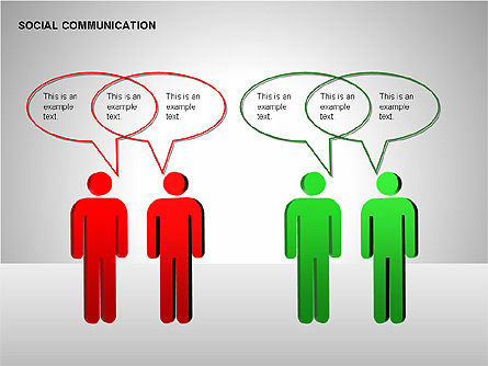 Communication Shapes, Slide 5, 00219, Shapes — PoweredTemplate.com