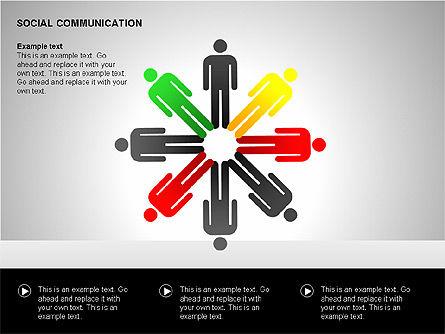 Communication Shapes, Slide 6, 00219, Shapes — PoweredTemplate.com