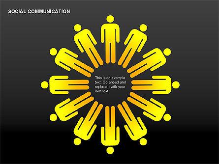 Communication Shapes, Slide 7, 00219, Shapes — PoweredTemplate.com