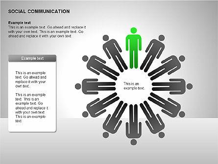Communication Shapes, Slide 8, 00219, Shapes — PoweredTemplate.com