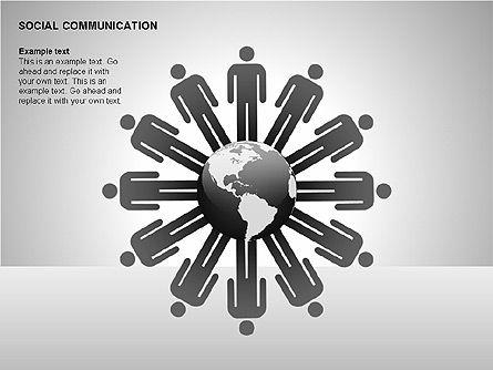 Communication Shapes, Slide 9, 00219, Shapes — PoweredTemplate.com