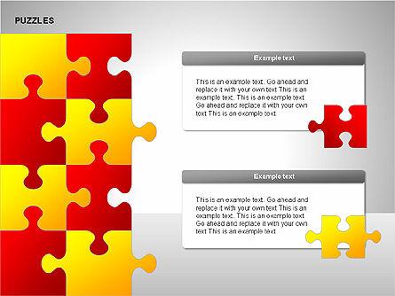 Puzzles with Pieces Diagrams, Slide 11, 00220, Puzzle Diagrams — PoweredTemplate.com