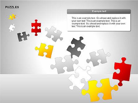 Puzzles with Pieces Diagrams, Slide 12, 00220, Puzzle Diagrams — PoweredTemplate.com