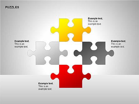Puzzles with Pieces Diagrams, Slide 13, 00220, Puzzle Diagrams — PoweredTemplate.com