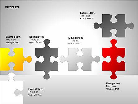 Puzzles with Pieces Diagrams, Slide 14, 00220, Puzzle Diagrams — PoweredTemplate.com