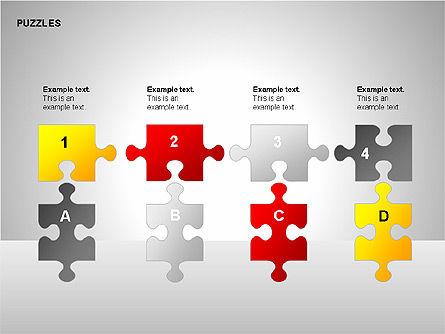 Puzzles with Pieces Diagrams, Slide 15, 00220, Puzzle Diagrams — PoweredTemplate.com