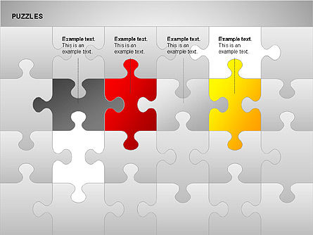 Puzzles with Pieces Diagrams, Slide 2, 00220, Puzzle Diagrams — PoweredTemplate.com