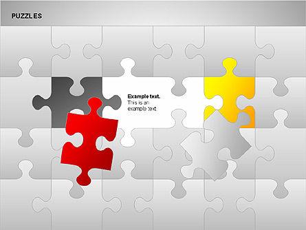 Puzzles with Pieces Diagrams, Slide 3, 00220, Puzzle Diagrams — PoweredTemplate.com