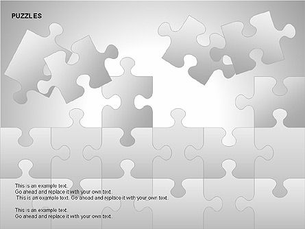 Puzzles with Pieces Diagrams, Slide 4, 00220, Puzzle Diagrams — PoweredTemplate.com