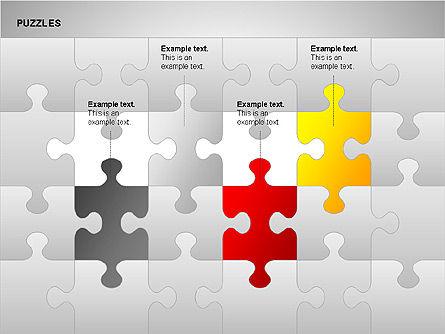 Puzzles with Pieces Diagrams, Slide 5, 00220, Puzzle Diagrams — PoweredTemplate.com