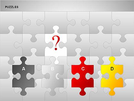 Puzzles with Pieces Diagrams, Slide 6, 00220, Puzzle Diagrams — PoweredTemplate.com