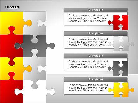 Puzzles with Pieces Diagrams, Slide 7, 00220, Puzzle Diagrams — PoweredTemplate.com