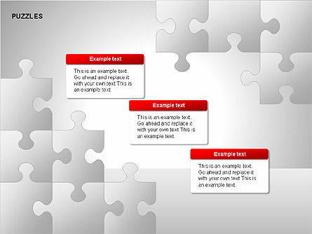Puzzles with Pieces Diagrams, Slide 8, 00220, Puzzle Diagrams — PoweredTemplate.com