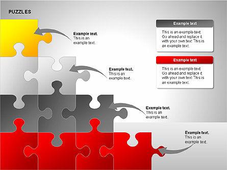 Puzzles with Pieces Diagrams, Slide 9, 00220, Puzzle Diagrams — PoweredTemplate.com