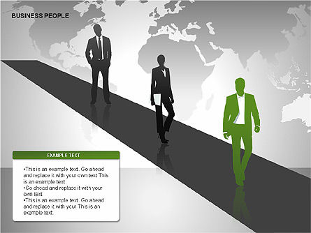 Business People Diagrams, Slide 14, 00221, Business Models — PoweredTemplate.com