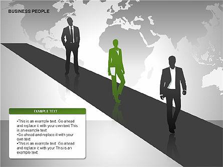 Business People Diagrams, Slide 15, 00221, Business Models — PoweredTemplate.com