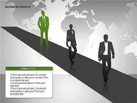 Business People Diagrams, Slide 16, 00221, Business Models — PoweredTemplate.com