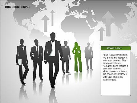 Business People Diagrams, Slide 5, 00221, Business Models — PoweredTemplate.com