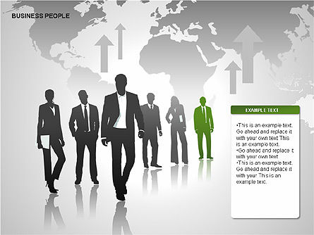 Business People Diagrams, Slide 6, 00221, Business Models — PoweredTemplate.com