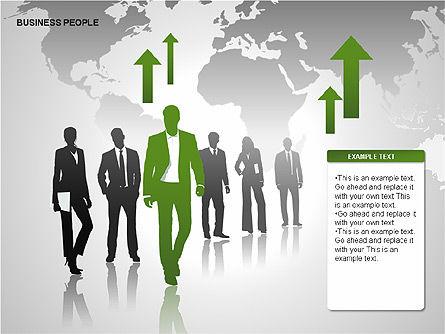 Business People Diagrams, Slide 7, 00221, Business Models — PoweredTemplate.com